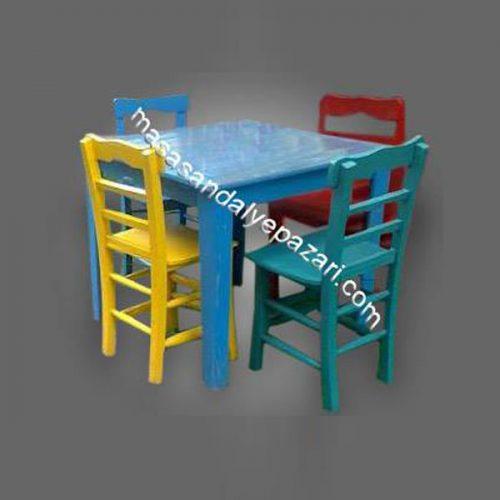 Renkli Masa Sandalye-TYF33